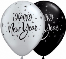 "New Year Balloons - 11"" New Year Sparkle (25pcs)"